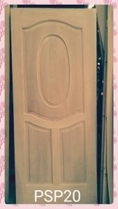 Pintu solid panel lingkaran oval